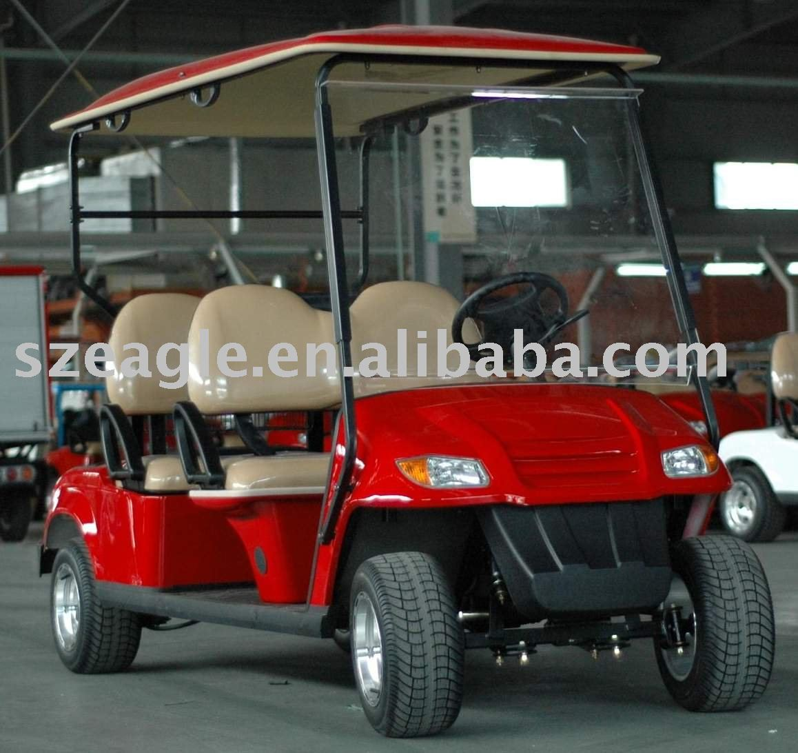 four seaters battery powered golf buggy,EG2049K02,48V/4KW Sepex