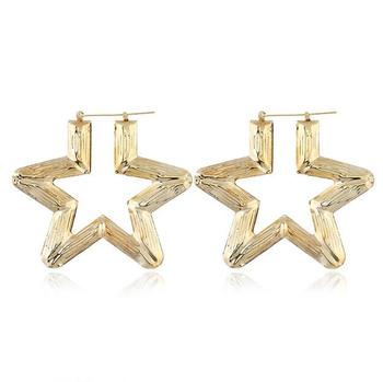gold bamboo earrings star jewelry wholesale fashion bamboo earrings women