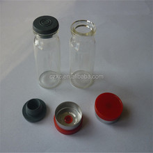 10ml clear glass vial 0.33oz for injection with rubber and flip off caps