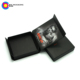 custom made printed magnetic closure matte black foldable flat folding paper jewelry packaging cardboard gift box no minimum