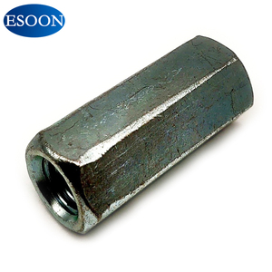 hex long coupling nut din 6334 carbon steel with zinc plated for connect