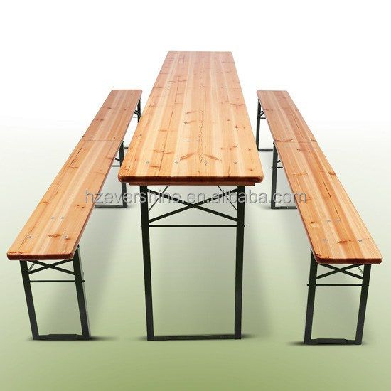 Wooden Beer Table Set Folding