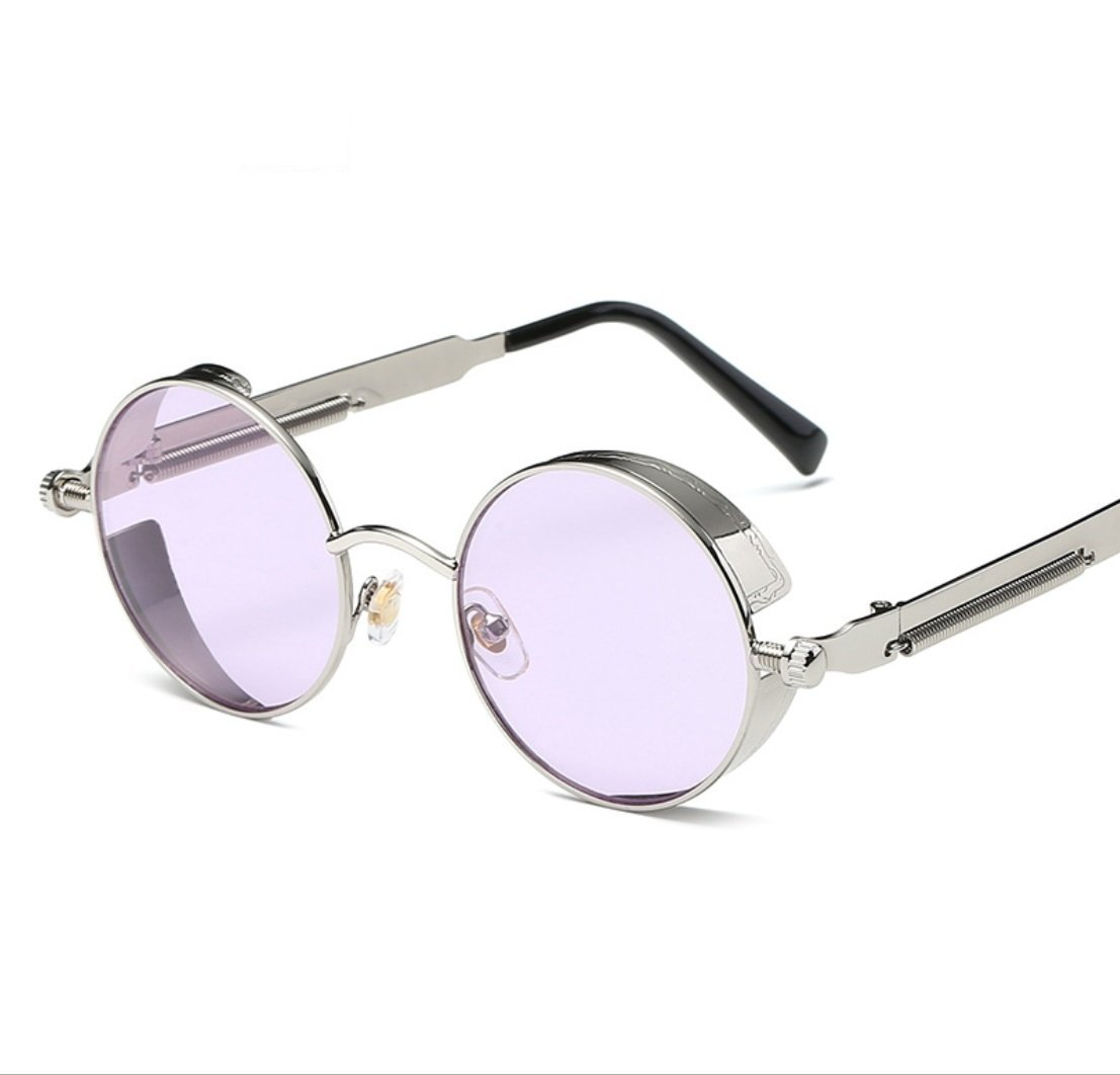 CUIYAN Fashion sunglasses Europe and the United States round personality reflective polarized sunglasses sunglasses men and women (Color : 3, Edition : Polarized light)