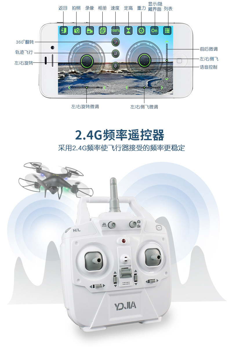 2018 altitude hold WIFI D68WG drone with real time camera