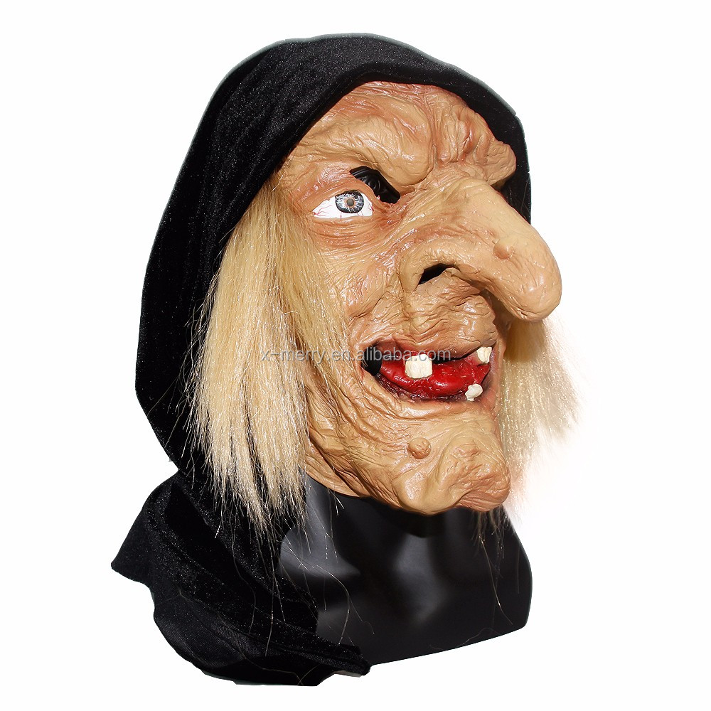 X-merry Toy Cheap Halloween Adult Wicked Witch Latex Masks Scary ...
