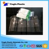 Clear PET environmental plastic tile /glass fiber roofing material