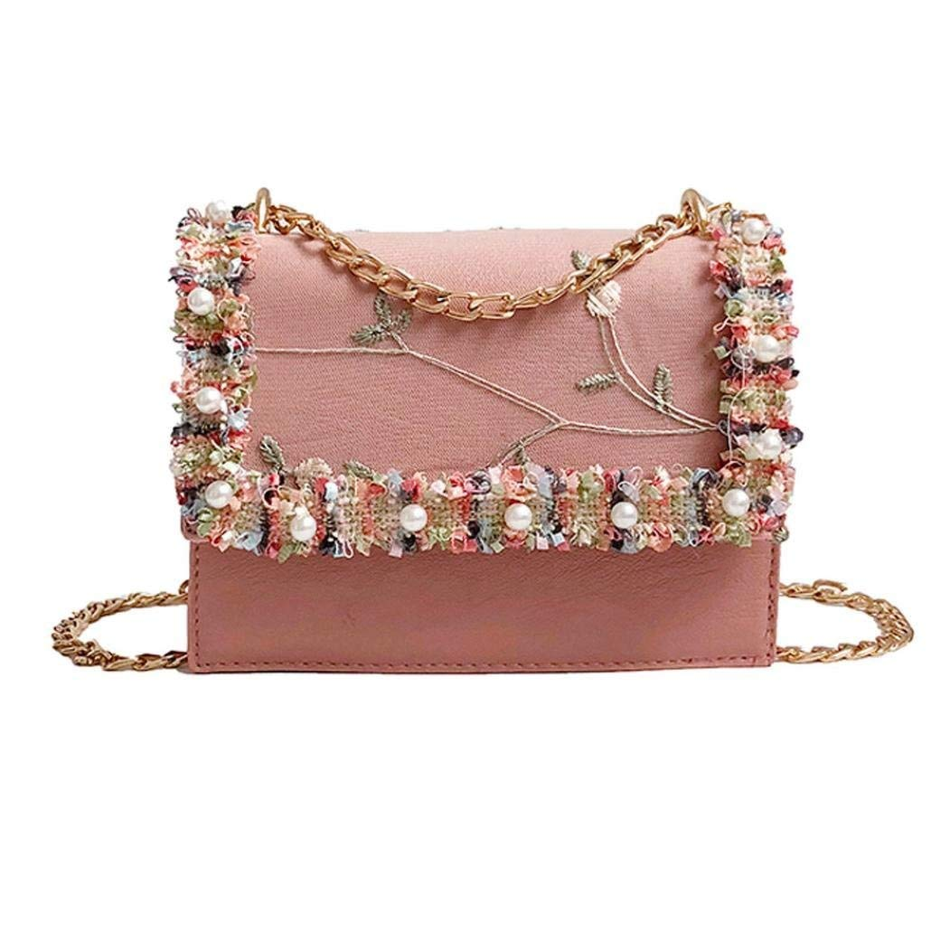 d1247ffbecf Get Quotations · Sunshinehomely Fashion Women Pearl Lace Decorate Crossbody  Bags Tote Handbags Shoulder Bag for Women Girls