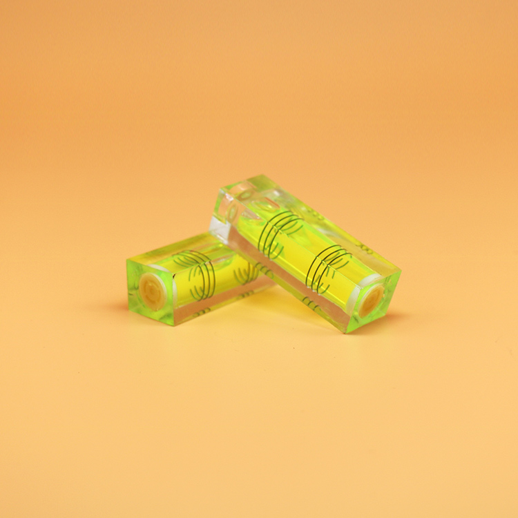 China  High Precision and  transparent Acrylic Spirit Level Bubble