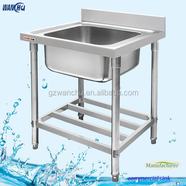 Single sink small stainless steel sink kitchen sink stand for Colored stainless steel sinks