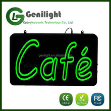 Electronic Cafe Neon Light Sign Front Neon Lighting Letters Led Cafe Neon Sign Aluminated Signboard
