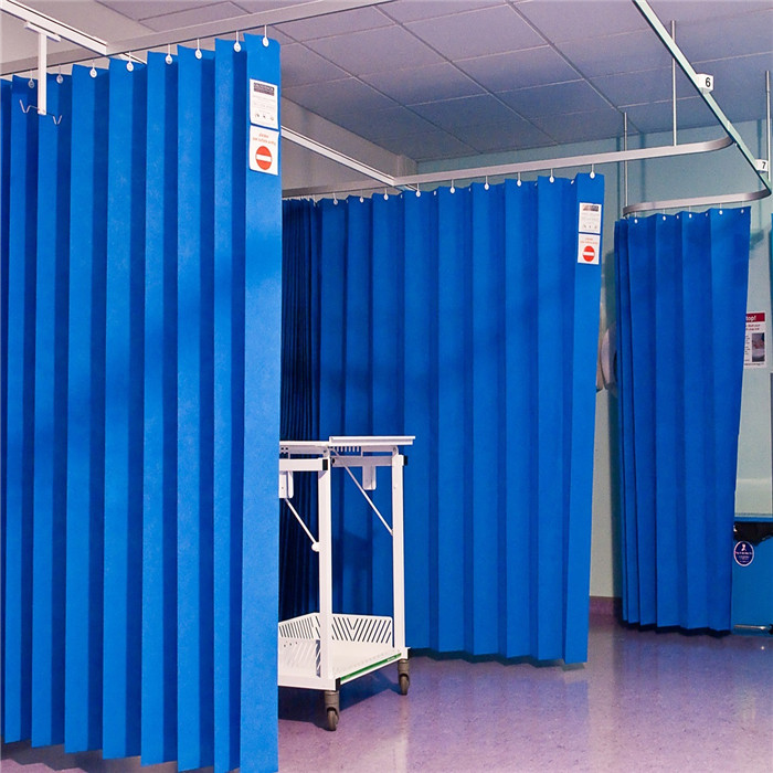 Non Woven Hospital Cubicle Curtain In Emergency Room, Medical ICU Curtain