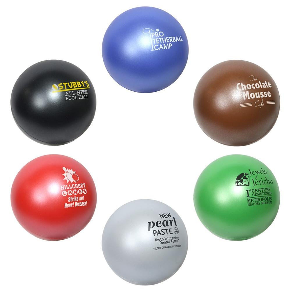 Hot Selling anti-stress Custom PU Stress Bal 6.3 cm Anti Stress Bal