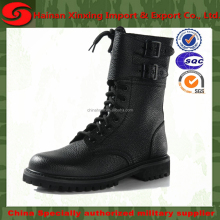 Round Toe Military Lace Up Knit Ankle Cuff Low Heel Combat Boots