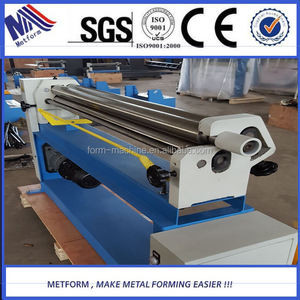 6mm Hot Selling 3 roll steel bending machine small plate rolling machine