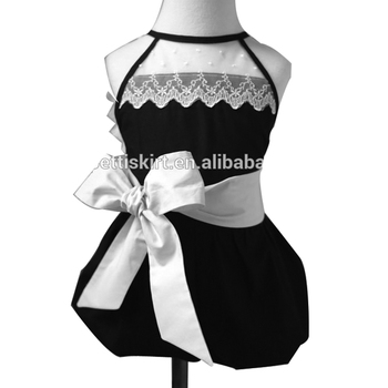 10127cfad5f6 Baby girl names photo lace chest above black romper with big white bowknot