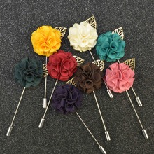 Men's Suits Flowers Brooches For Wedding Pin Up Insert Long Lapel Pins Vintage Mens Metal Leaf Brooches