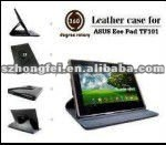 cheap price!!!rotary 360 degree leather case for asus eee pad transformer tf101
