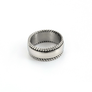 15888 XUPING Black gun color men stainless steel jewelry ring+no stone 316l stainless steel blank ring