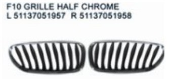 For bmw z4 07-10 front grille half chrome/ventilation grille door/exhaust air grille