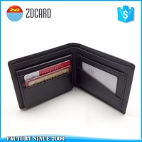 Genuine cow leather credit card holder wallet man on sale (rfid blocking protector)
