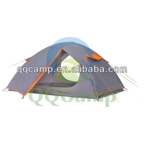 Outdoor camping tent for 2 persons with Two door double layers