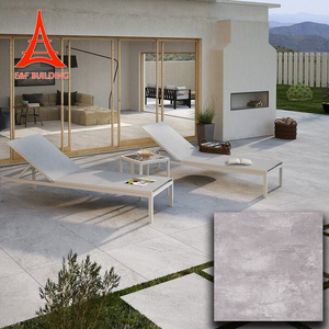 Anti slip school light grey matte floor tiles 2 CM thickness outdoor non-slip porcelain tile
