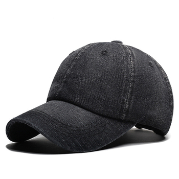 132ccc66a4 Wholesale Fashion Stone Washed Plain Black Jeans Baseball Caps - Buy ...