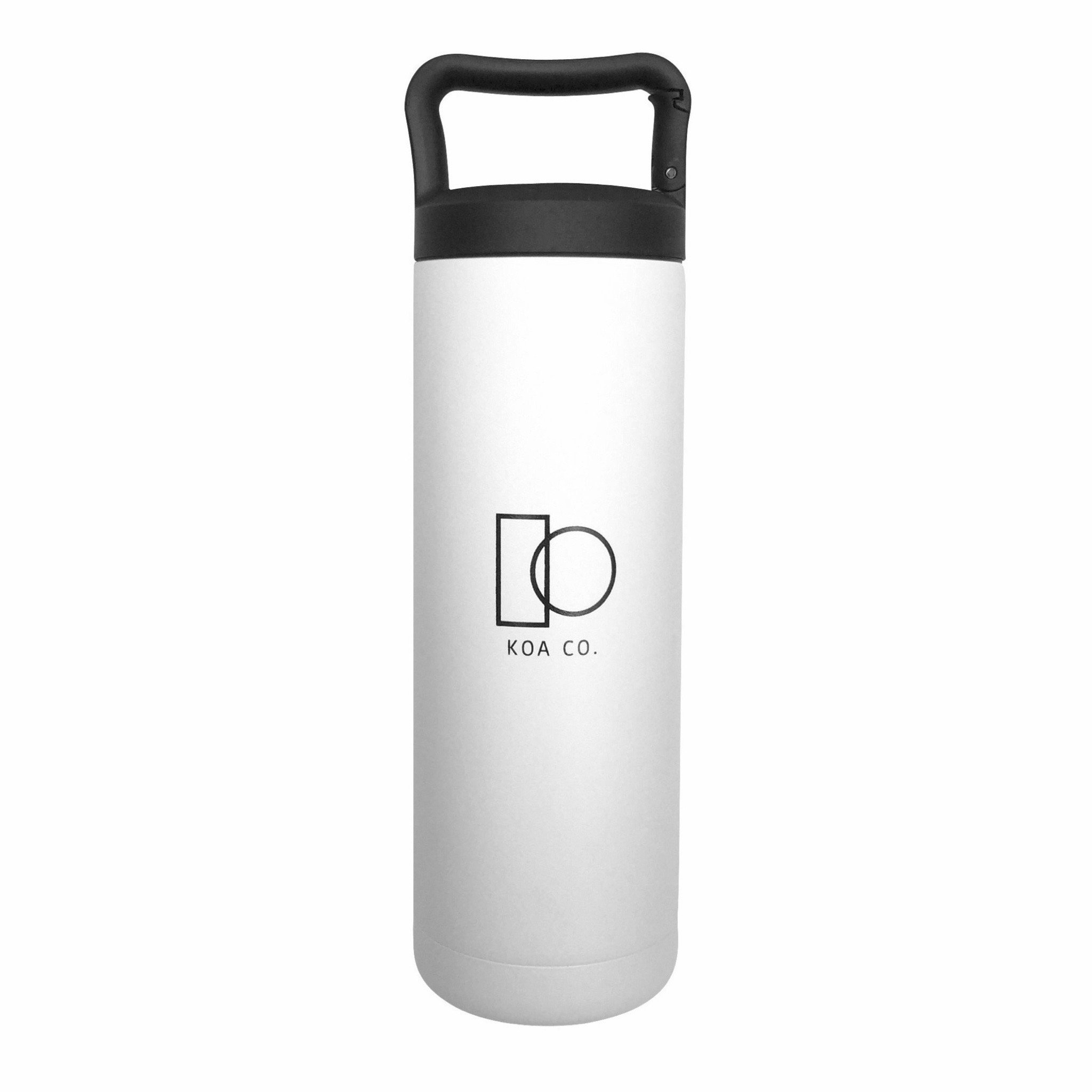 Vacuum Insulated Double Wall Stainless Steel Hydro Water Bottle   Eco-Friendly, BPA-Free, Sweat-Proof, Leak-Proof   Travel, Camping, Hiking, Fitness, Adventure   (White, 20 oz.)