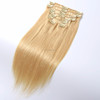 wholesale remy real human hair clip in hair extension with factory price