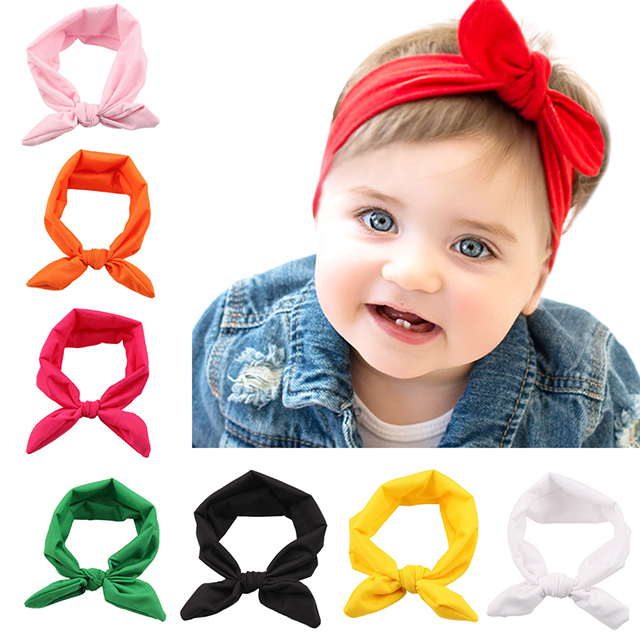 14 Colors Lovely Rabbit Ear <strong>Headband</strong>, Baby <strong>Headbands</strong> Turban Knotted, Girl's Hairbands for Newborn