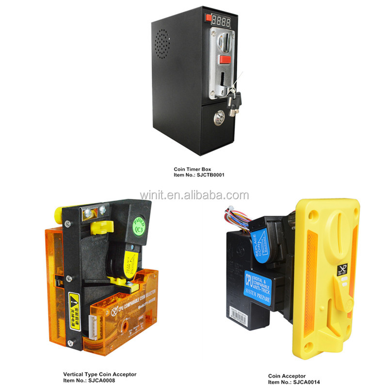 Different Styles CPU Programmable Comparable Electronic Multi Coin Token Acceptor for Arcade Coin Operated Game Machines