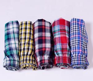 import china wholesale cotton men woven boxer shorts comfortable cotton & linen boxers man house wear boxers for sale