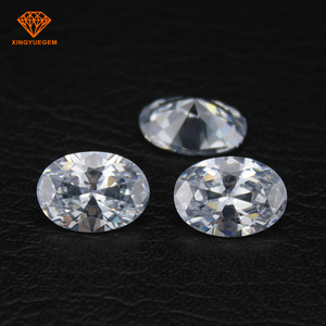 China CZ Stone 1mm 3mm Oval Cut White 1 carat Cubic Zirconia For Jewelry