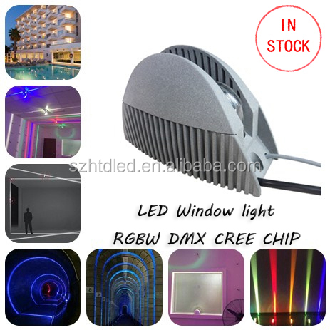 LED commercial ip65 window led light RGBW DMX window light addressable window light