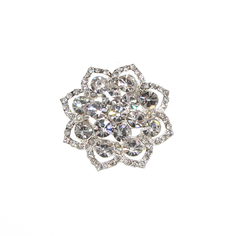 30mm wedding clear crystal rhinestone <strong>Buckle</strong> for clothing