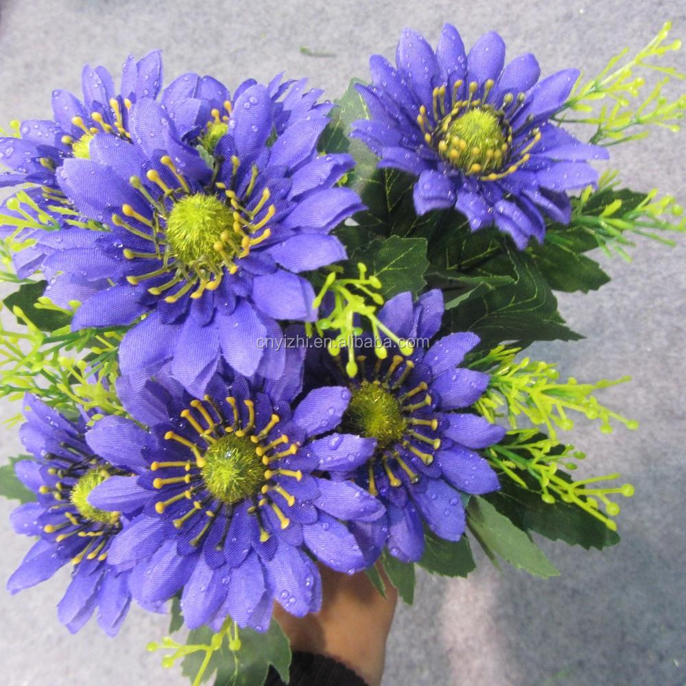 Mini Artificial Flower Daisy Bouquet Wholesale Sun Flowers Bunch