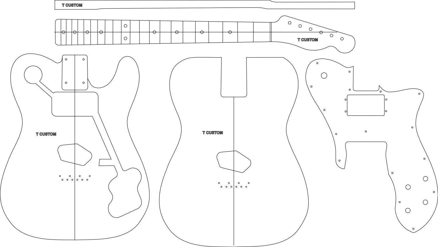 Buy Electric Guitar Routing Template T Custom In Cheap Price On - Guitar routing templates