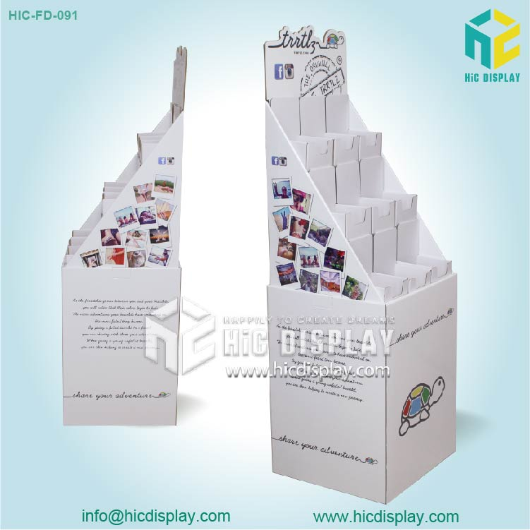 HIC new design customized corrugated cardboard pharmacy display stand