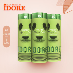 IDORE Virgin Bamboo Pulp Facial Tissue OEM ODM Service Free Sample Tube Car Refill Tissue Paper For Vehicle