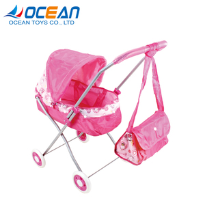 China factory cheap foldable sunshade pink baby stroller 2017 with tote bag for sale