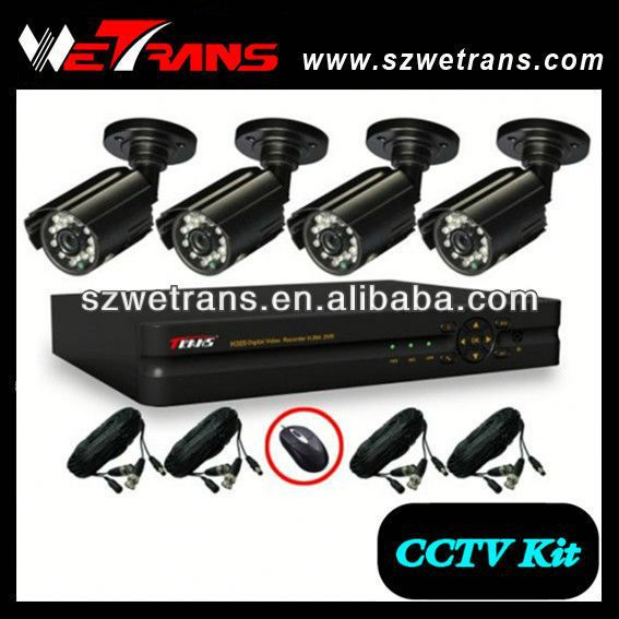 WETRANS 4CH CCTV Analog System, Camera and DVR, Economical Security Camera Sets