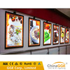 Acrylic material and rectangle shape wall mount led slim snap frame menu light box menu sign board