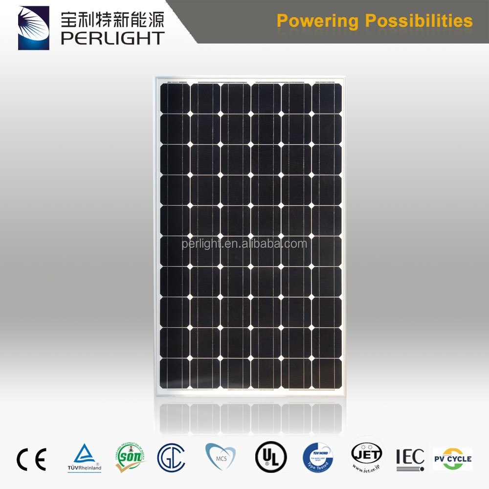 High Efficiency Perlight Think Mono Solar Module 305W with 60 Solar Cells
