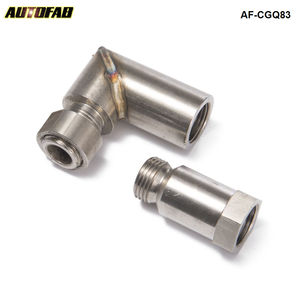 AUTOFAB - Car O2 Oxygen Sensor Angled Extender Spacer 90 Degree O2 Bung Extension M18 X 1.5 For Exhaust Systems AF-CGQ83