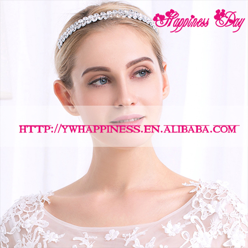 Women Crystal Tiaras Crown Wedding Bridal Headband Hair Accessories Jewelry Marriage Hair Decoration