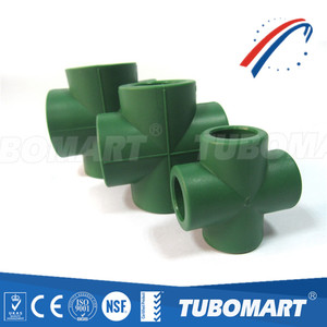 Good quality and price ppr fitting PPR Cross Piece for ppr water pipe