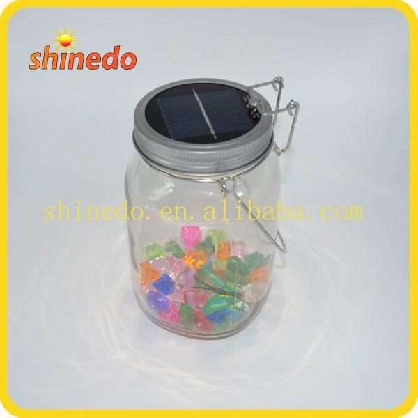 Led Lantern Table Consol Solar Jar