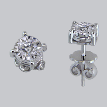 0 50ct Per Pair Solitairenatural Igi Certified Diamond Stud Earring In 10k White Gold
