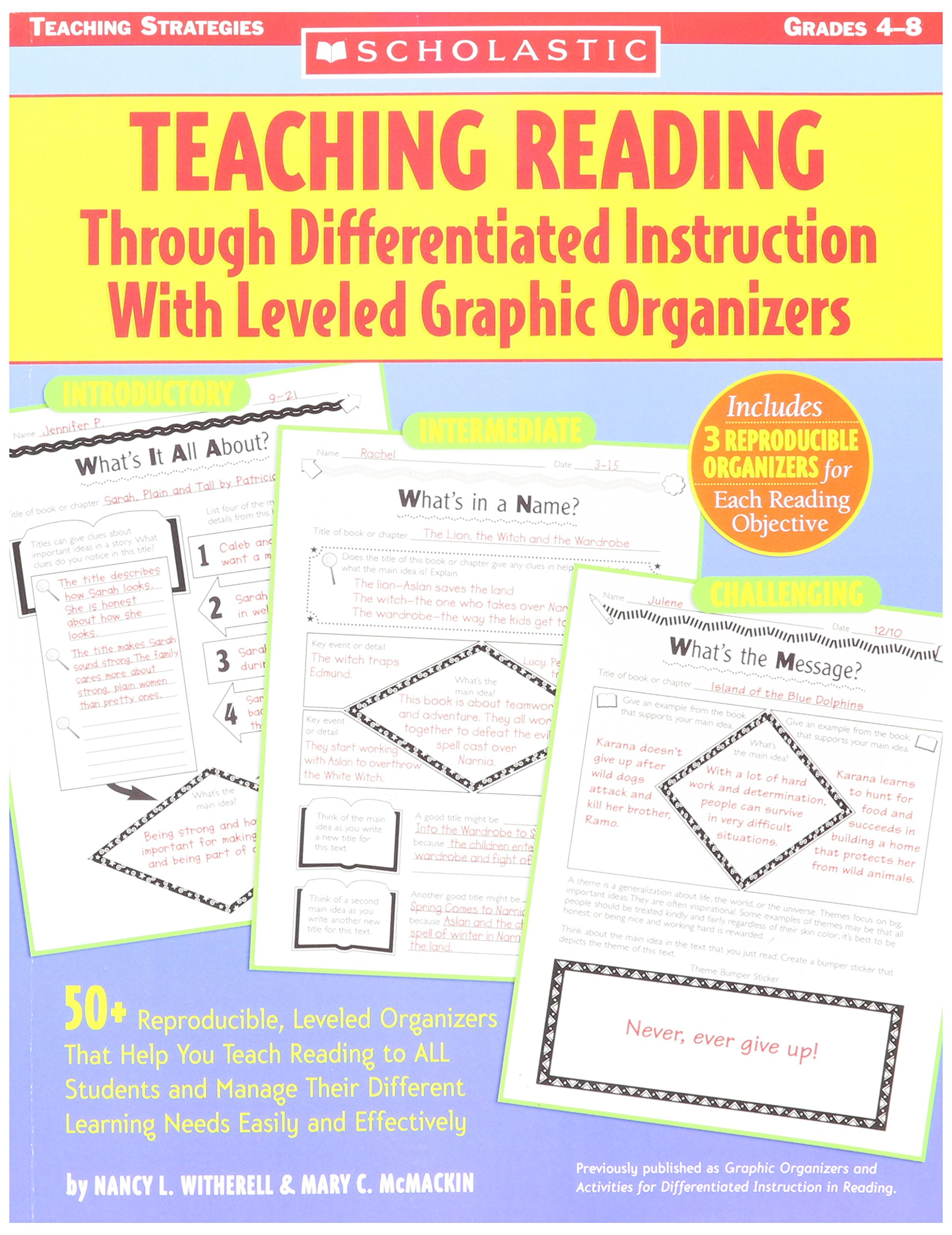 Buy Scholastic Graphic Organizers And Activities For Differentiated