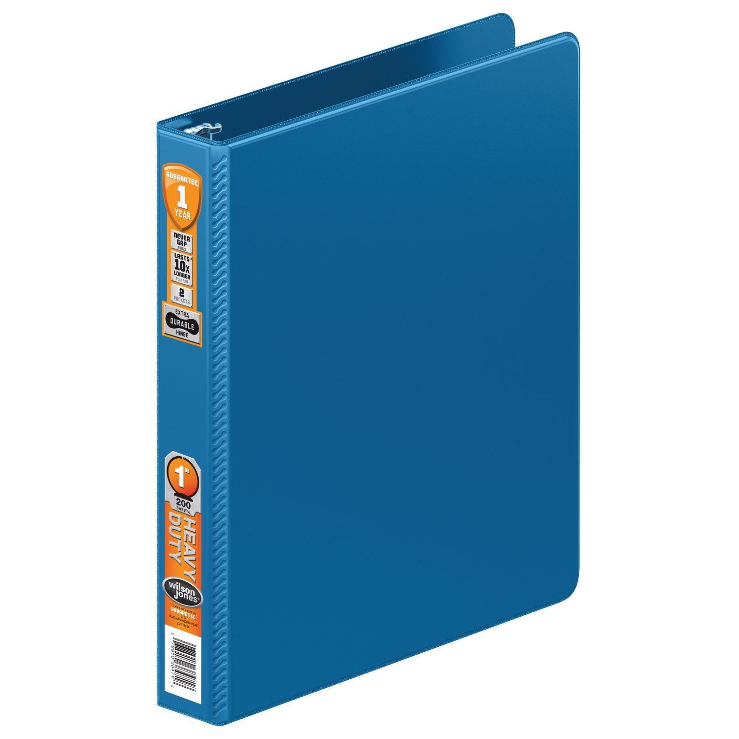 Wilson Jones Heavy Duty Round Ring Binder with Extra Durable Hinge, 1-Inch, PC Blue (W364-14-7462)